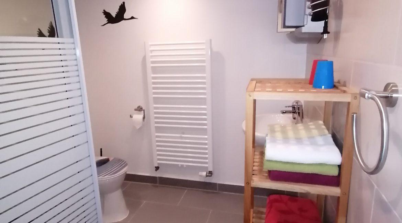 Bad mit Dusche, WB & WC